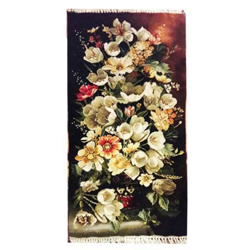 تابلو فرش دستبافت طرح گل طولی پیشکار،خرید آنلاین،فروشگاه اینترنتی اف تپ