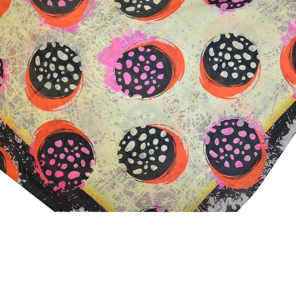 روسری دست دوز نخی برند Ramila طرح رنگی خالخالی،خرید آنلاین،فروشگاه اینترنتی آف تپ