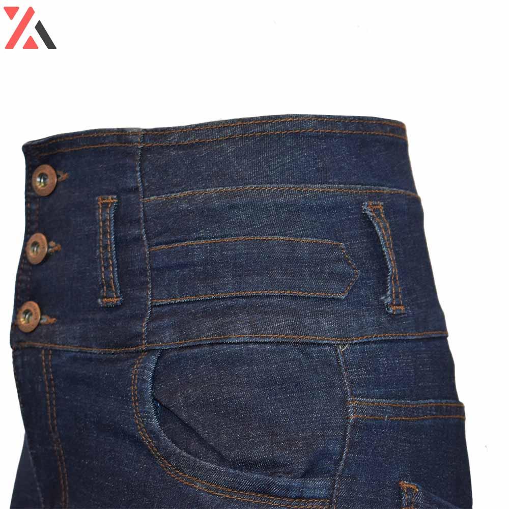 شلوار جین 3 دکمه زنانه گن دار کد D74b،خرید آنلاین،فروشگاه اینترنتی آف تپ