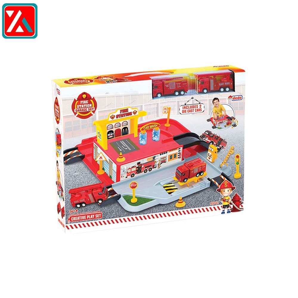 کیت ماشین بازی دد طرح آتش نشانی مدل Garage Set 03343،فروشگاه اینترنتی آف تپ