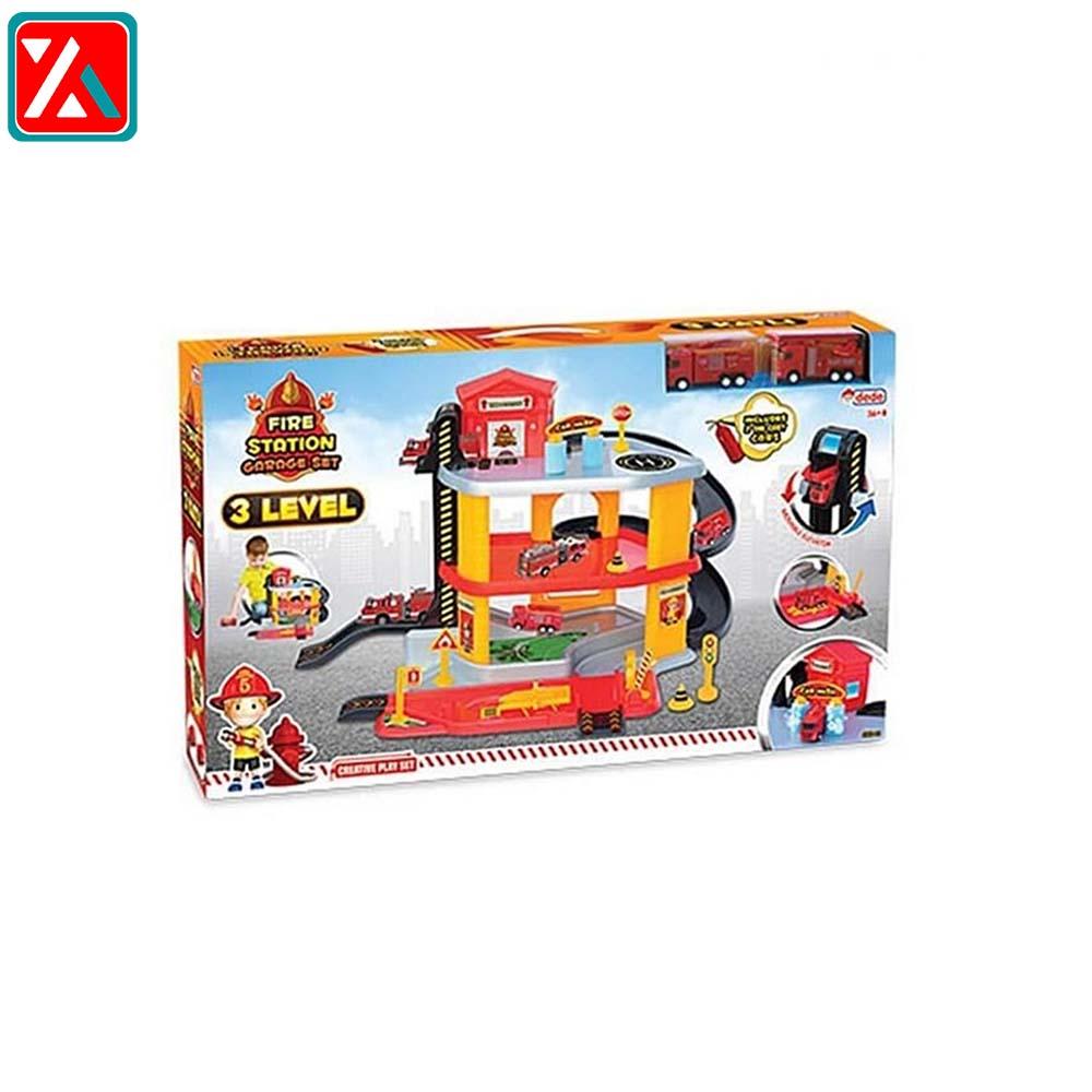 ست بازی گاراژ ایستگاه آتشنشانی سه طبقه همراه با ۲ ماشین دد03345،فروشگاه اینترنتی اف تپ