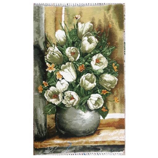 تابلو فرش دستبافت طرح گل کادویی،خرید آنلاین،فروشگاه اینترنتی آف تپ