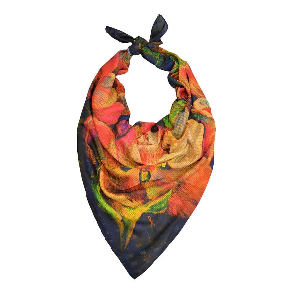 روسری دست دوز نخی برندRamila طرح رنگین کمان،خرید آنلاین،فروشگاه اینترنتی آف تپ