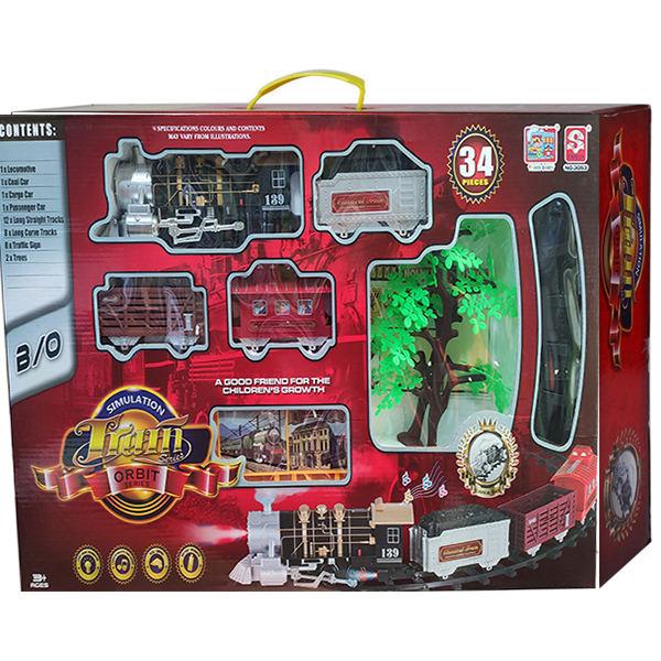 قطار اسباب بازی دودزا 35 تیکه کنترلی مدل 3055،فروشگاه اینترنتی آف تپ