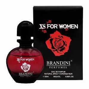 ادو پرفیوم جیبی زنانه برندینی مدل Xs For Women حجم 25 میلی لیتر،خرید آنلاین،فروشگاه اینترنتی آف تپ