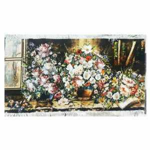 تابلو فرش دستباف طرح سه گلدان،خرید آنلاین،فروشگاه اینترنتی آف تپ