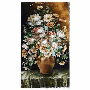 تابلو فرش دستبافت طرح گل کوزه،خرید آنلاین،فروشگاه اینترنتی آف تپ