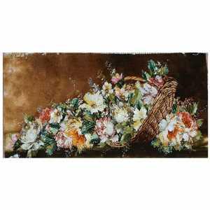تابلو فرش دستبافت طرح گل عرضی،خرید آنلاین،فروشگاه اینترنتی آف تپ