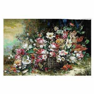 تابلو فرش طرح گل عرضی اصل تبریز،خرید آنلاین،فروشگاه اینترنتی آف تپ