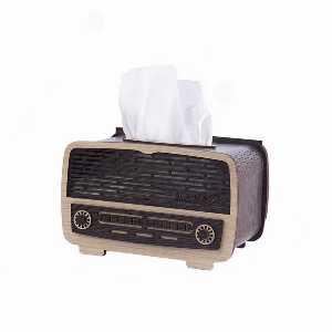 جا دستمال کاغذی طرح رادیو کشویی،خرید انلاین،فروشگاه اینترنتی  آف تپ