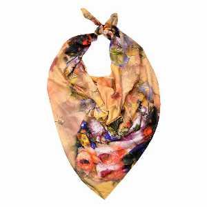 روسری دست دوز نخی برند Ramila طرح گل برجسته،خرید آنلاین،فروشگاه اینترنتی آف تپ