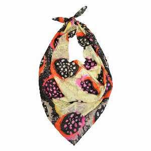 روسری دست دوز نخی برند Ramila طرح رنگی خالدار،خرید آنلاین،فروشگاه اینترنتی آف تپ