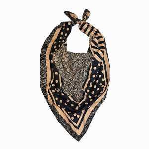 روسری زنانه Ramila طرح خال گلدار خطی،خرید آنلاین،فروشگاه اینترنتی آف تپ