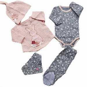 ست پنج تیکه دخترانه نوزادی کد 004 ، فروشگاه اینترنتی آف تپ