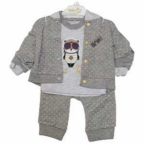 ست سه تکه نوزادی پسرانه کد 075، خریدآنلاین، فروشگاه اینترنتی آف تپ