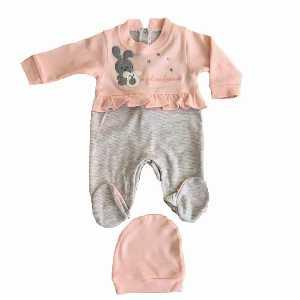 ست سرهمی و کلاه نوزاد دخترانه کد 048 ، فروشگاه اینترنتی آف تپ