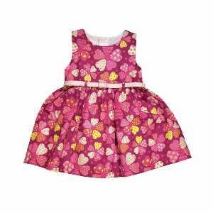 پیراهن راحتی دخترانه طرح قلب، خریدآنلاین، فروشگاه اینترنتی آف تپ