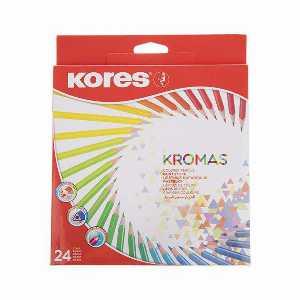 باکس مداد رنگی 24 رنگ KORES مدل KROMAS، فروشگاه اینترنتی آف تپ