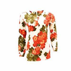 پیراهن زنانه تونیک اسپرت 3 دکمه گلدار کد 844، فروشگاه اینترنتی آف تپ