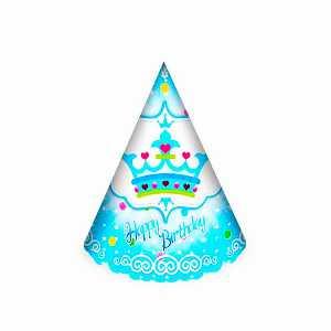 کلاه ساده اکلیلی تم تولد تاج آبی، فروشگاه اینترنتی آف تپ