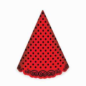کلاه بوقی تم تولد قرمز خال مشکی، فروشگاه اینترنتی آف تپ