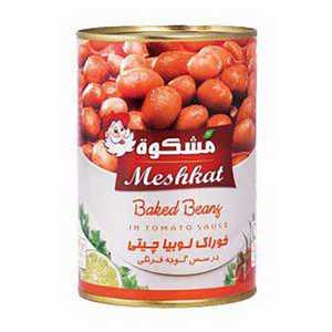کنسرو لوبیا مشکوت (meshkat) ۴۰۰ گرمی، فروشگاه اینترنتی آف تپ