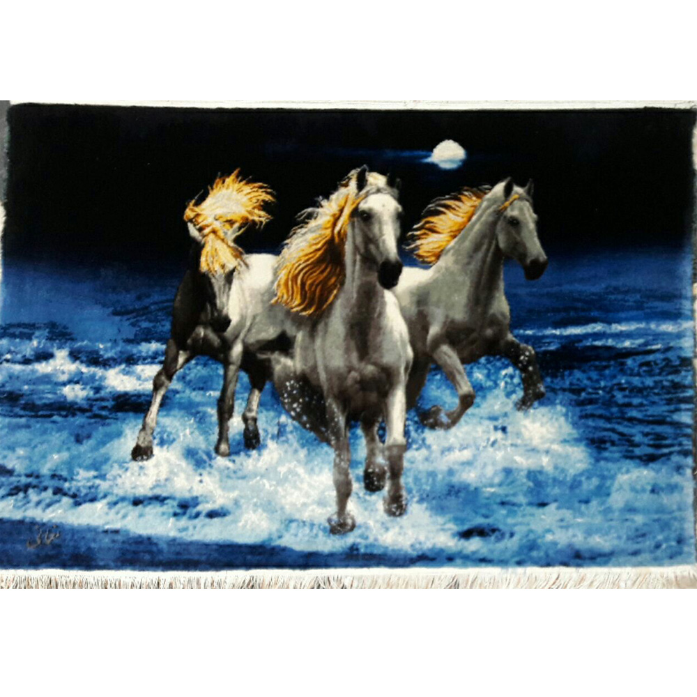 تابلو فرش دستبافت طرح گله اسب کد 6512 ، خرید آنلاین ، فروشگاه اینترنتی آف تپ