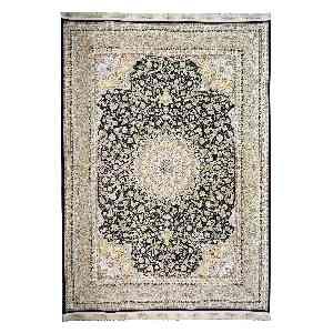 فرش ماشینی داریوش طرح خطیبی زمینه سرمه ای،فروشگاه اینترنتی آف تپ