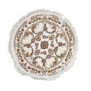 فرش دایره ای مهر و ماه طرح مهر آسا رنگ زمینه کرم، فروشگاه اینترنتی آف تپ