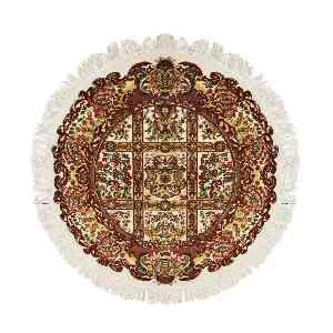 فرش ابریشمی سولان طرح ماندگار زمینه کرم، فروشگاه اینترنتی آف تپ