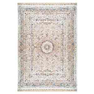 فرش ماشینی محتشم طرح فرهی زمینه کرمی ، فروشگاه اینترنتی آف تپ