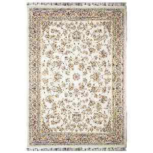 فرش ماشینی مهر و ماه طرح گل فام زمینه کرمی، فروشگاه اینترنتی آف تپ