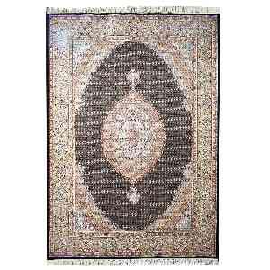 فرش ماشینی قالی تارا طرح ماهی خوی زمینه سرمه ای، فروشگاه اینترنتی آف تپ