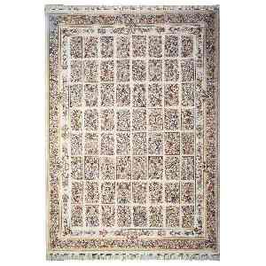 فرش ماشینی مهر و ماه طرح خشتی آترینا زمینه کرم ، فروشگاه اینترنتی آف تپ