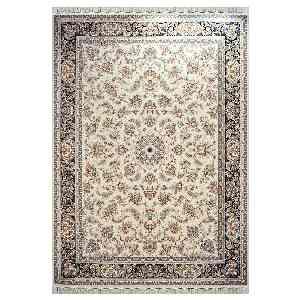 فرش ماشینی مهر و ماه طرح بهشت زمینه کرم ، فروشگاه اینترنتی آف تپ