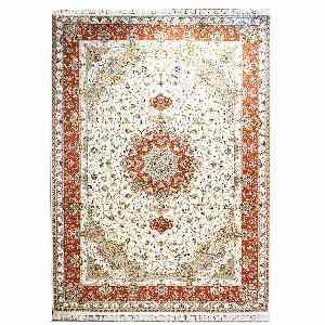 فرش ماشینی قالی تارا طرح اولیا زمینه کرم ، فروشگاه اینترنتی آف تپ