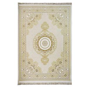 فرش ماشینی شاهانه شفقی طرح گل فام زمینه کرم،فروشگاه اینترنتی آف تپ