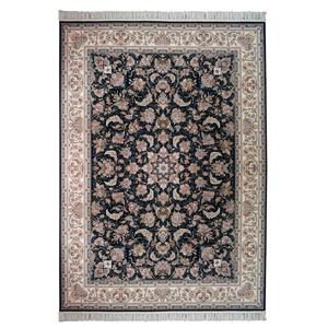 فرش ماشینی مهر و ماه طرح بهشت زمینه سرمه ای ، فروشگاه اینترنتی آف تپ