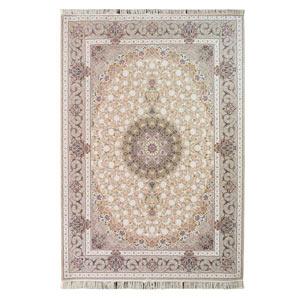 فرش ماشینی شاهانه شفقی طرح گل شید زمینه فیلی، فروشگاه اینترنتی آف تپ