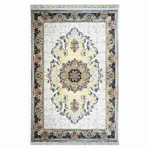 فرش ماشینی شاهانه شفقی طرح ماهور زمینه کرم، خرید آنلاین ، فروشگاه اینترنتی آف تپ