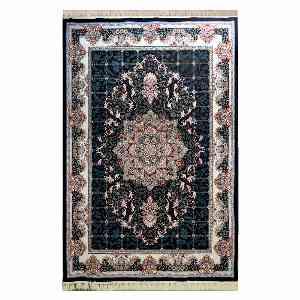 فرش ماشینی شاهانه شفقی طرح ماهور زمینه سرمه ای ، خرید آنلاین ،فروشگاه اینترنتی آف تپ