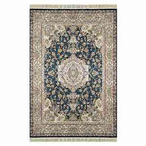 فرش ماشینی شاهانه شفقی طرح تبریز زمینه سرمه ای ، خرید آنلاین ، فروشگاه اینترنتی آف تپ