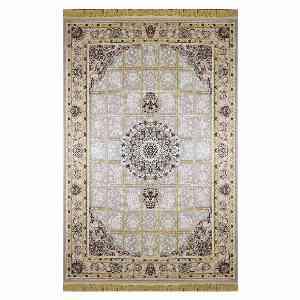 فرش ماشینی شاهانه شفقی طرح گیسو زمینه بژ ، خرید آنلاین ، فروشگاه اینترنتی آف تپ