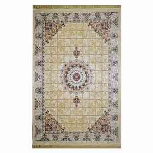 فرش ماشینی شاهانه شفقی طرح گیسو زمینه کرم ، خرید آنلاین ، فروشگاه اینترنتی آف تپ