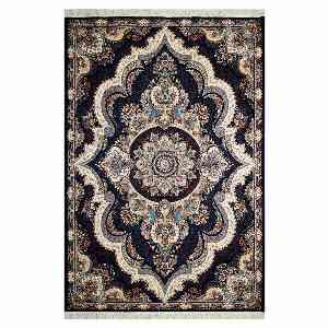 فرش ماشینی قالی تارا طرح شهیاد زمینه سرمه ای ، خرید آنلاین ، فروشگاه اینترنتی آف تپ