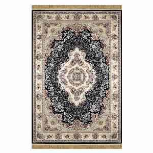 فرش ماشینی شاهانه شفقی کد 1013 زمینه سرمه ای ، خرید آنلاین ، فروشگاه اینترنتی آف تپ