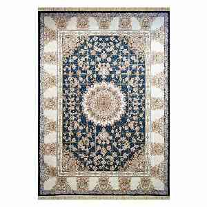 فرش ماشینی مهر و ماه طرح سروین زمینه سرمه ای ، خرید آنلاین ، فروشگاه اینترنتی آف تپ