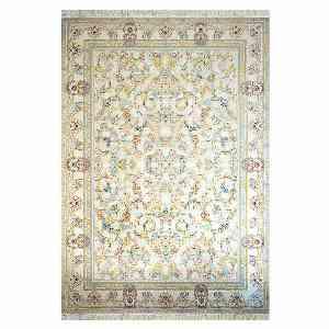 فرش ماشینی کاخ طرح افشان خشتی زمینه نقره ای ، خرید آنلاین ، فروشگاه اینترنتی آف