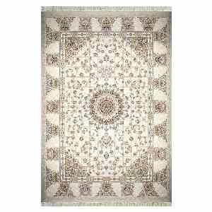 فرش ماشینی مهر و ماه طرح سروین زمینه کرم ، خرید آنلاین ، فروشگاه اینترنتی آف تپ