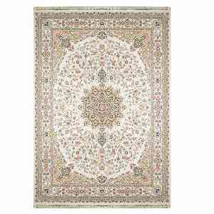 فرش ماشینی مهر و ماه طرح اطلس زمینه نقره ای ، خرید آنلاین ، فروشگاه اینترنتی آف تپ
